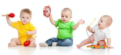 Bimbi che suonano, parte dello sviluppo dei bambini