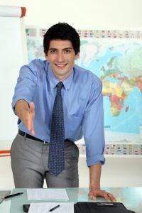 docente pronto a ricevere i genitori