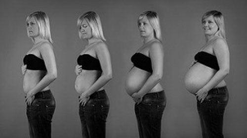 La donna in varie fasi della gravidanza