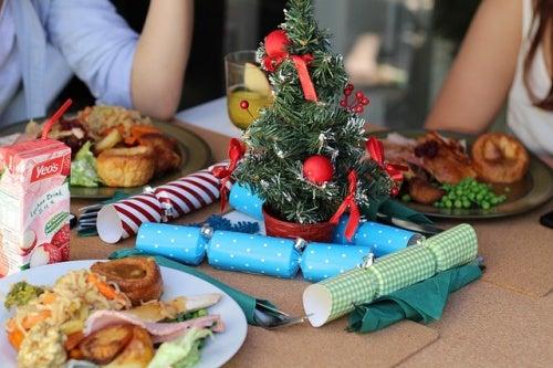 Incinta a Natale: crackers natalizi.