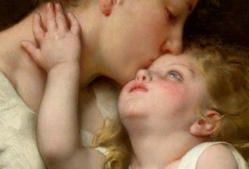 Madre e figlio in un quadro