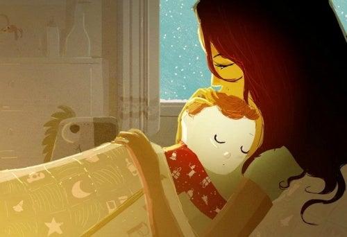 Crescere bene un bambino: abbracciare, consolare e accudire
