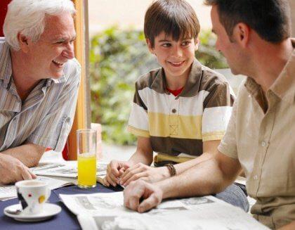 Nonno, padre, figlio: un legame unico