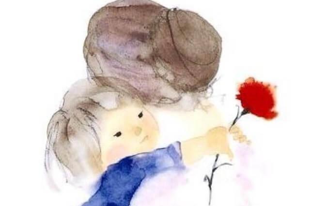 Nonna e nipote: un abbraccio tenero.