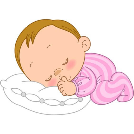 Bambino sogna la sua cara mamma.