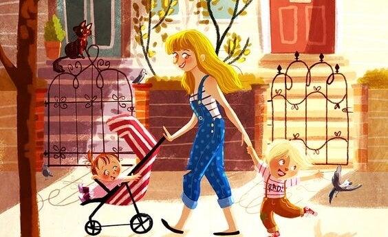 Crescere un figlio da sola è difficile ma meraviglioso: mamma single con i figli.
