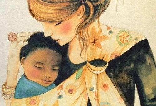 Anche le madri che si occupano dei figli sono delle gran lavoratrici