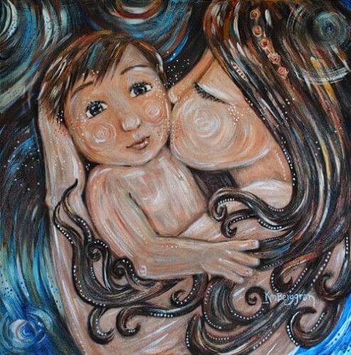 Mamma e figlio: il bambino più bello del mondo è il nostro.