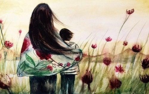 Una mamma completa supera le paure con il figlio.
