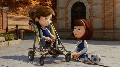 Bambini che giocano nel cortometraggio Cuerdas