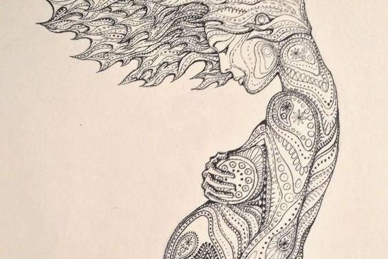 disegno tribale donna incinta