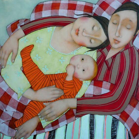 abbraccio di famiglia
