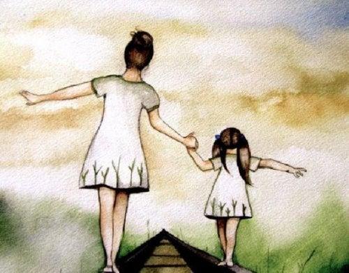 amore di madre, madre e figlia