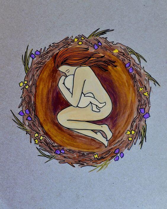 Insieme in un nido: amore tra madre e figlio