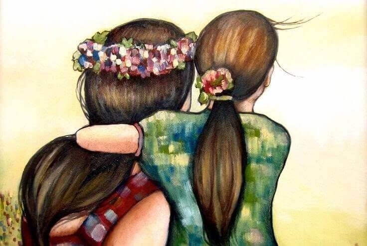 Mamma tossica abbraccia sua figlia