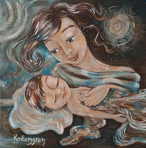 La madre si prende cura del bambino