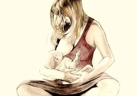 Mamma con bambino nel post-parto