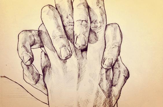 Le mani offrono sostegno, complicità, amore