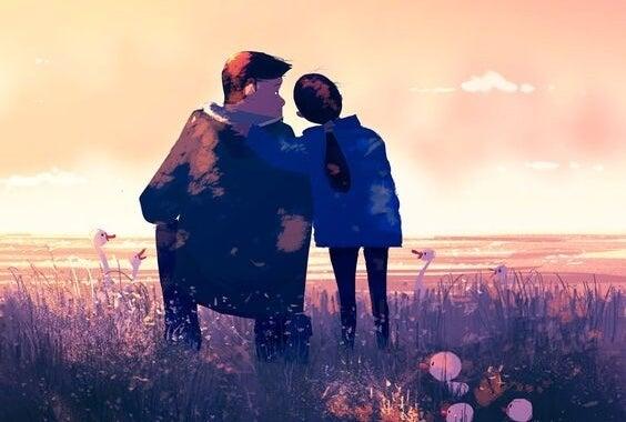amore paterno: padre e figlia