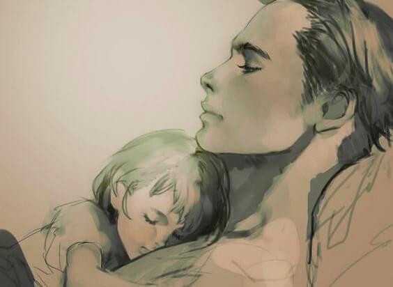 La mamma dona tranquillità alla bambina
