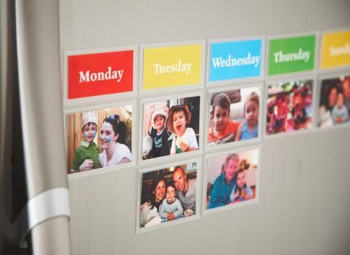 Calendario con orari fissi per i bambini