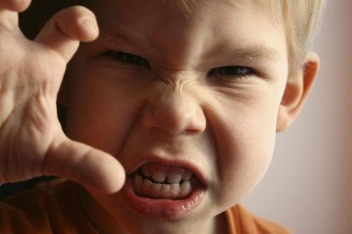L'ira nei bambini in genere è generata da un sensazione di irritazione e frustrazione