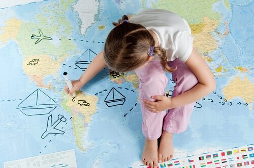 Viaggiare per i bambini significa scoprire posti nuovi
