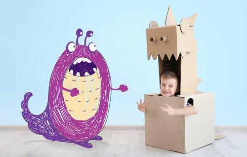 Bambino utilizza la scatola della rabbia