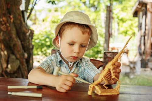 Mio figlio è affascinato dai dinosauri!