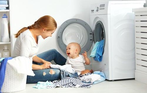 lavare le tutine del bebè