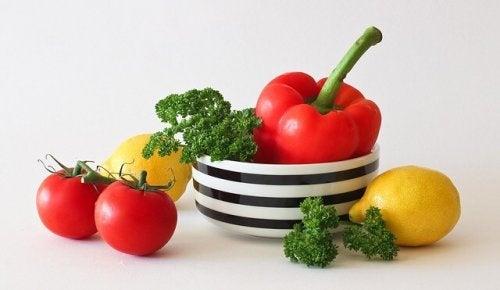 I colori delle verdure