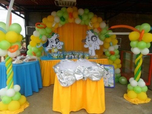 Colori e decorazioni conferiscono personalità alle feste per bambini