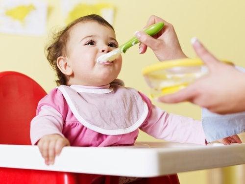 purè di verdure per il bebè