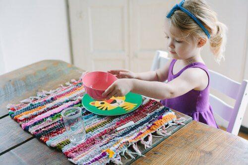 tavola di mansioni per bambini