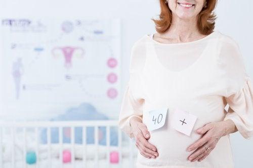 Donna con più di 40 anni incinta