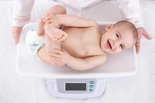 L'aumento di peso del bambino nel primo anno di vita