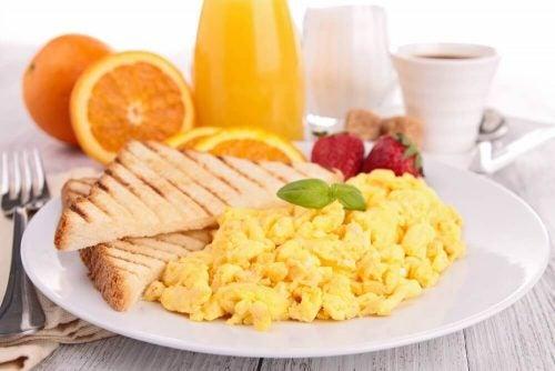Una colazione abbondante