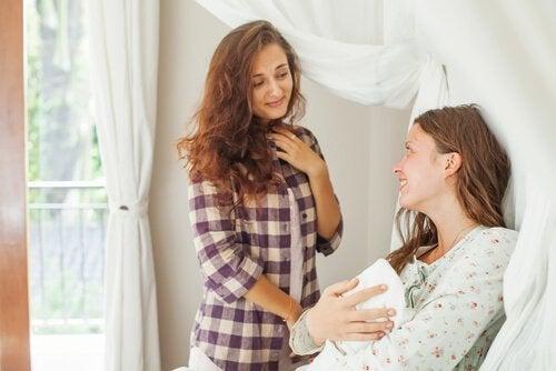 Essere zia e madre ci consente di instaurare dei buoni rapporti famigliari