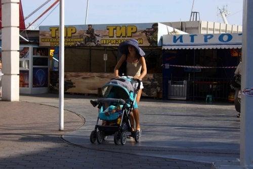 Passeggiare con il vostro bimbo