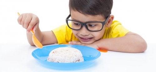 Palline di riso e uovo