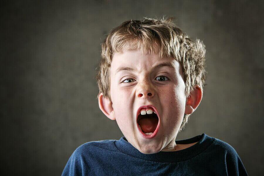 I bambini gridano per attirare l'attenzione