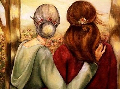 Madre con sua figlia