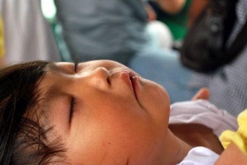 un bambino che dorme