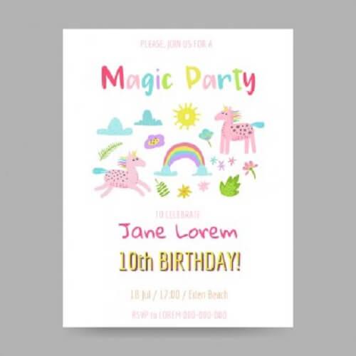5 idee per creare inviti di compleanno