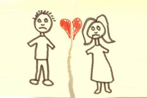Disegno rotto di innamorati
