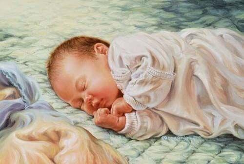 Disegno di neonato che dorme