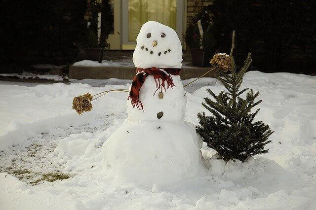 Uno dei giochi con la neve è fare un pupazzo