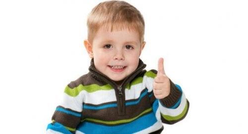 autostima e personalità di un bambino di tre anni