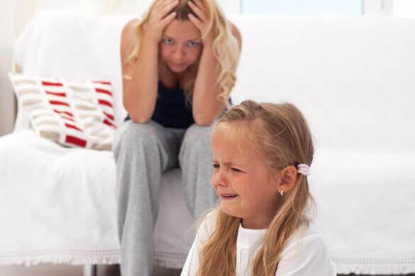 momenti di difficoltà per le madri