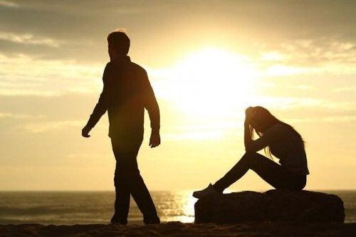 Il tramonto della relazione di coppia